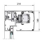 Perfilería cristal de cámara salidas emergencia redundantes, perfil montaje