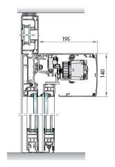 Perfilería cristal de cámara salidas emergencia redundantes, perfil soporte
