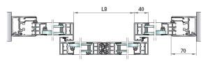 Perfilería cristal de cámara salidas emergencia redundantes, pilar estandar