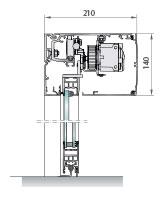 Perfileria puerta telescopica, Una o dos hojas: con guía estándar.