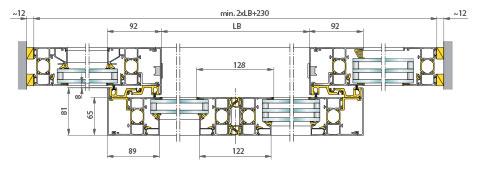 Puerta corredera perfilería puente térmico doble / triple vidrio