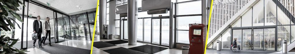 Las puertas automáticas proporcionan múltiples facilidades.